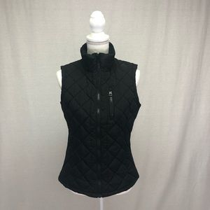 Andrew Marc Black Quilted Puffer Vest